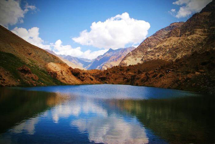 Lamayuru to Darcha Ladakh trek gives trekkers view of the beautiful pond near Darcha