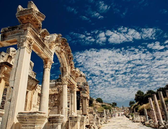 Remains of the temple of Harian at Ephesus