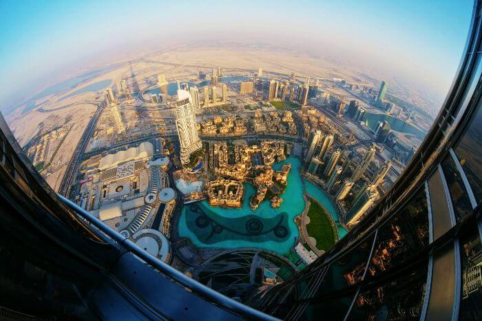 The view from Burj khalifa