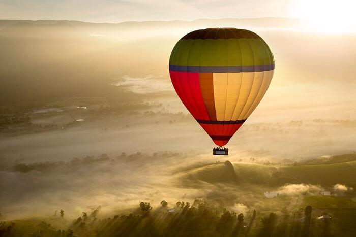 Ballooning over Yarra Valley