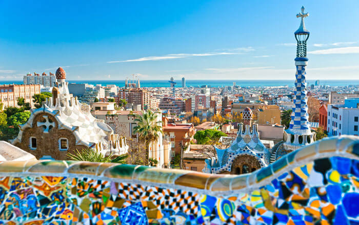 Cityscape of Barcelona - one of the most beautiful cities in Spain