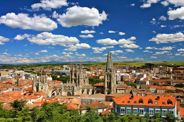 Burgos city view facing southeast