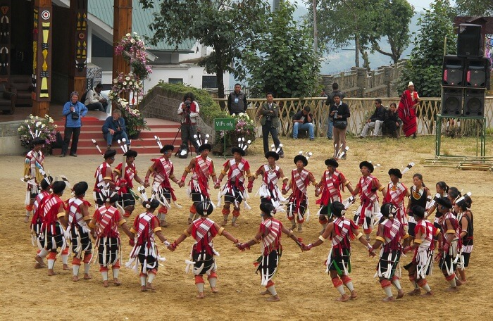 Chakhesang performance at the Hornbill Festival