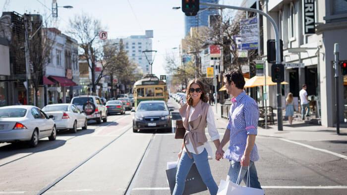 Chapel Street in Melbourne is a shopper's paradise