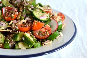 The freshness of vegetables with an amazing dressing, Fattoush is one salad no one can resist.
