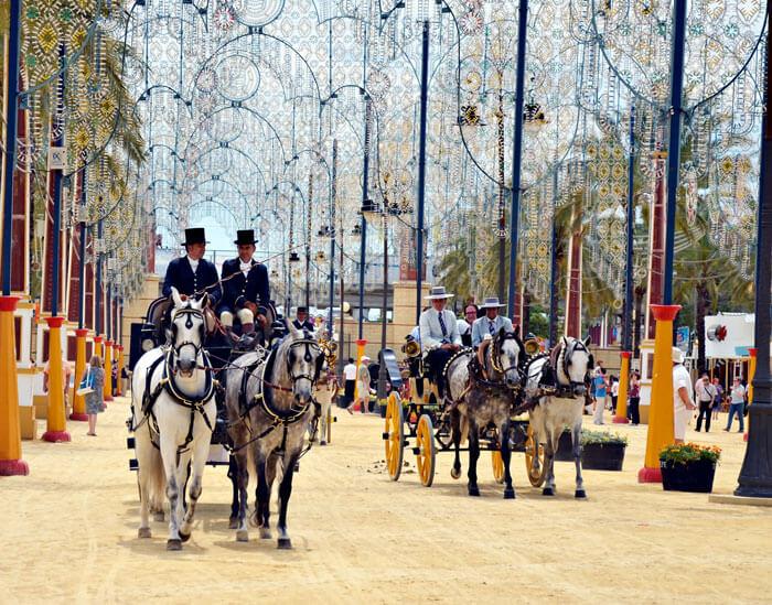 An ongoing Feria del Caballo Horse Fair