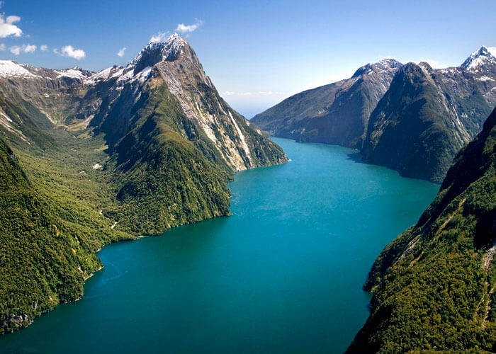 Fjords in Fiordland National Park – one of the most stunningly best places to visit in New Zealand
