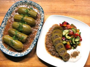 Stuffed courgettes or zucchini wrapped in beautiful flavours.