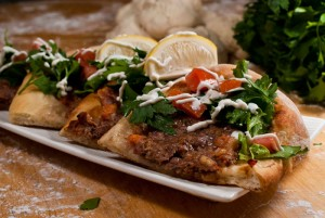 Lahem Bl Ajin is the Arab Pizza with exquisite flavours.
