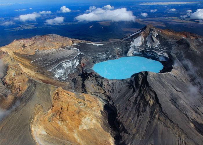 The beautiful turquoise Lake Taupo
