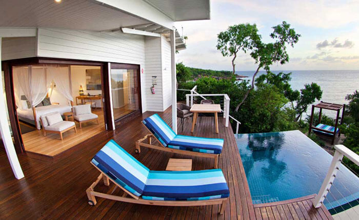 Pool by the room in the Lizard Island Resort