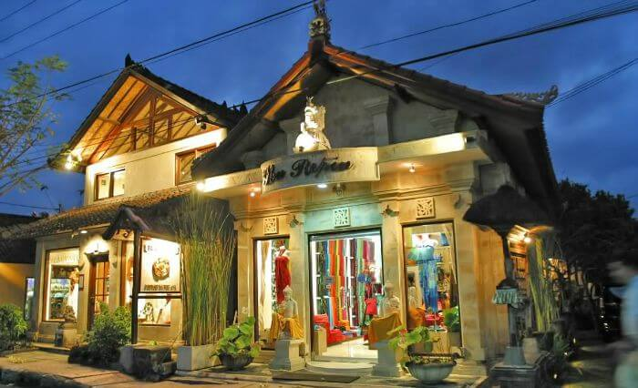 Monkey Forest Road is the best for street side shopping experience in Bali