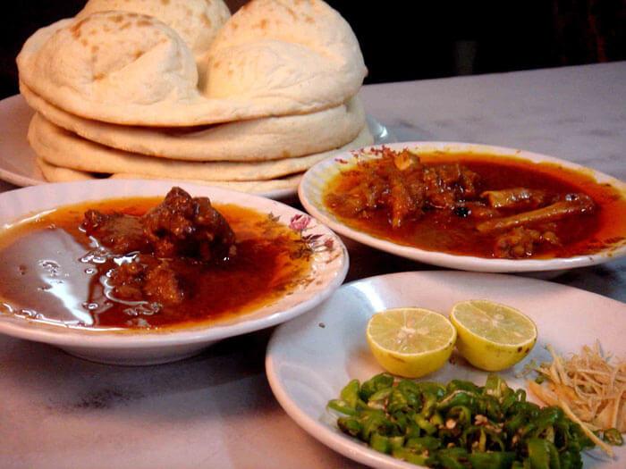 Nihari breakfast at Karim's