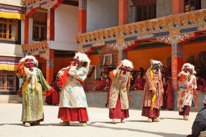 A colorful dance performance during Ladakh Fest