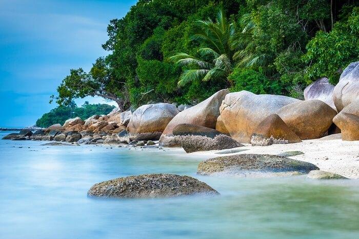 The Perhentian beach in Malaysia