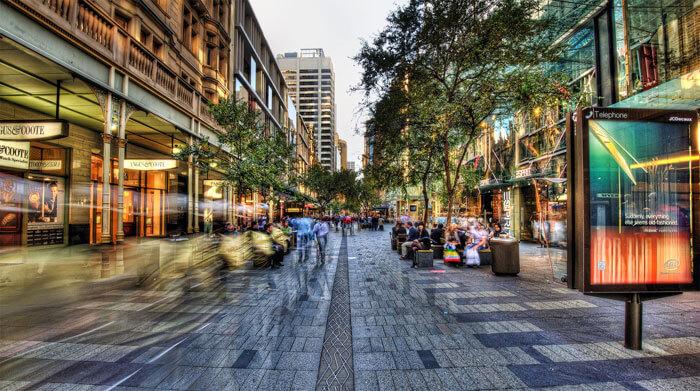 An evening of Pitt Street