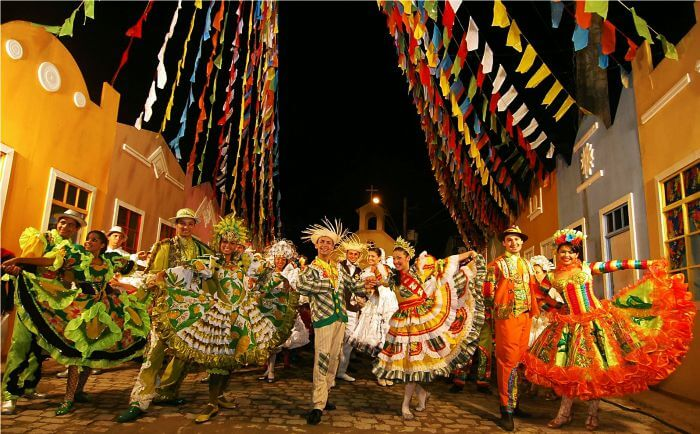 Goans dancing in merriment at the Sao Joao festival in Goa