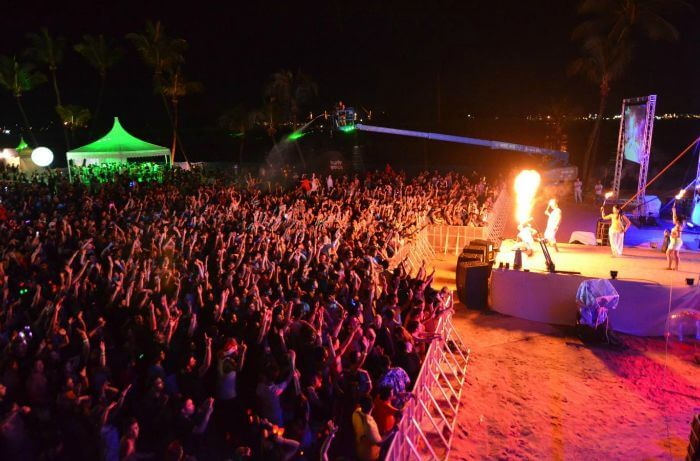 New year celebrations at Siloso beach party in Goa