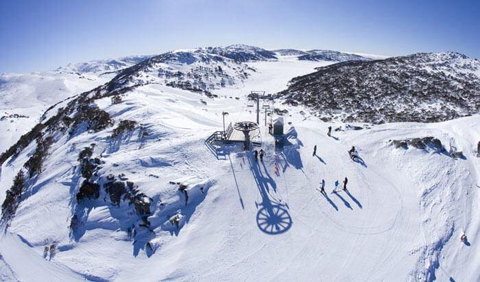 Skiing resort on Mt. Kosciuszko
