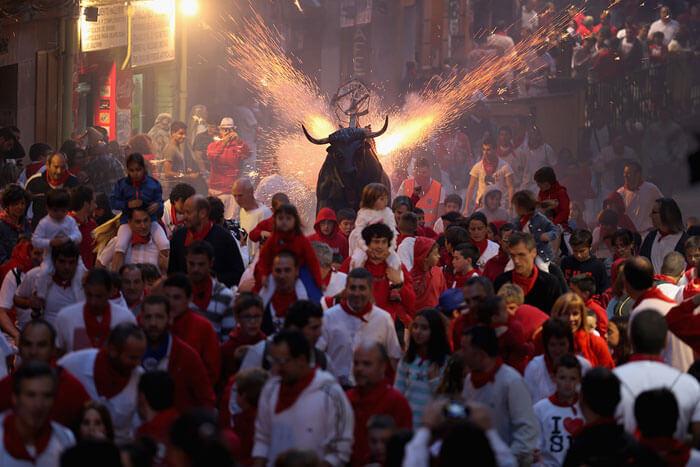 Bull Racing in Pamplona