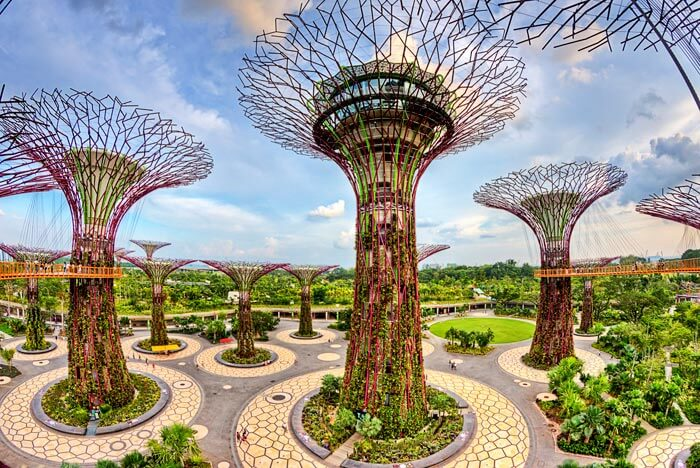 Supertrees at Gardens by the Bay is a green place to visit in Singapore for free