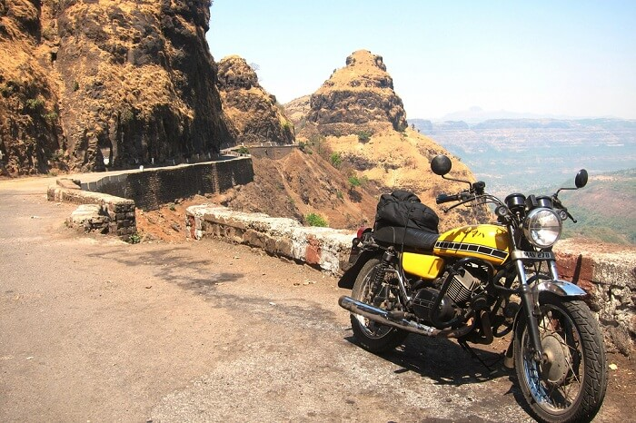 A stationary bike en route Mahabaleshwar