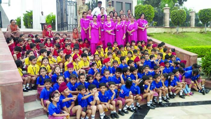 The students of the JK Public School