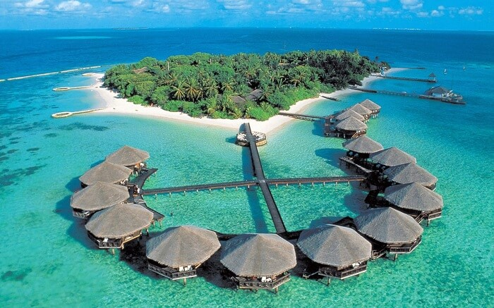 The water villas at Baros in Maldives