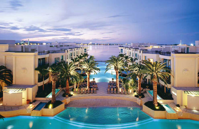 The beautiful view of the Palazzo Versace in Queensland