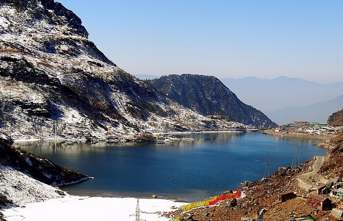 A beautiful view of the Tsomgo Lake in Sikkim