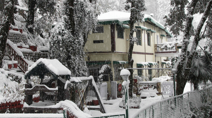 The snow clad Bethany Villa in Garhwal is one of the best homestays