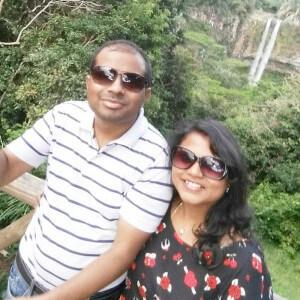 Mahesh enjoying the exhilarating experience at Casela Nature Park