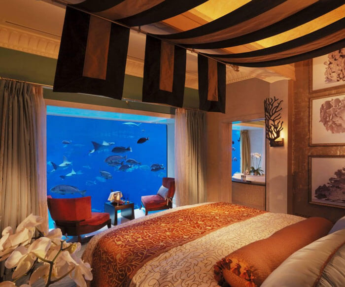 The most beautiful underwater hotel in Dubai