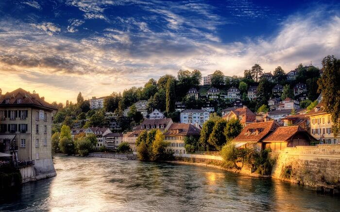 AN evening at the beautiful city of Bern