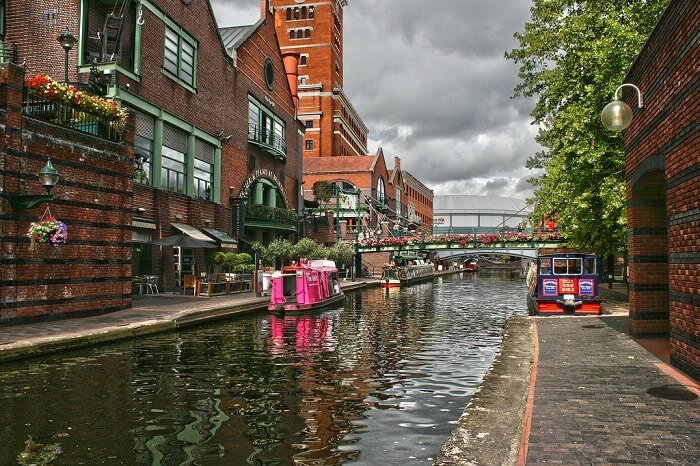 The old-world canal city of Birmingham in England