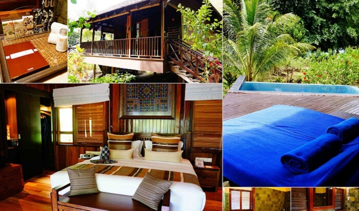 Many views of Bunga Raya Island Resort - one of the popular resorts in Malaysia