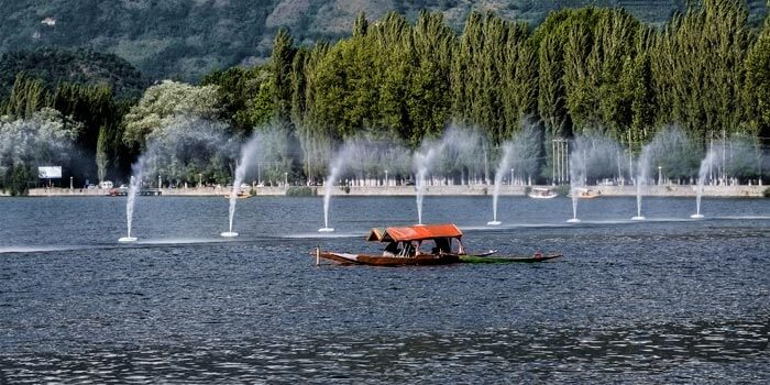 Shikara at Dal Lake in Kashmir