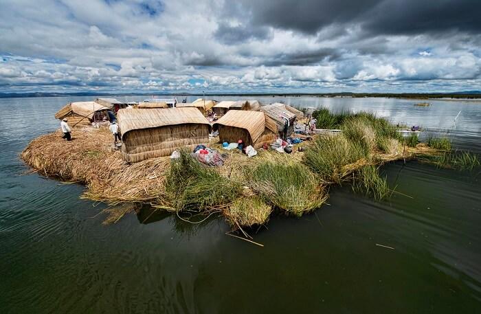 Floating Island in Peru