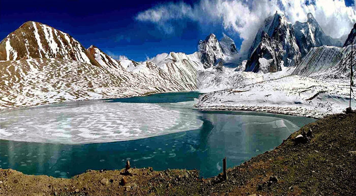 The glacial beauty of Gurudongmar Lake in Sikkim