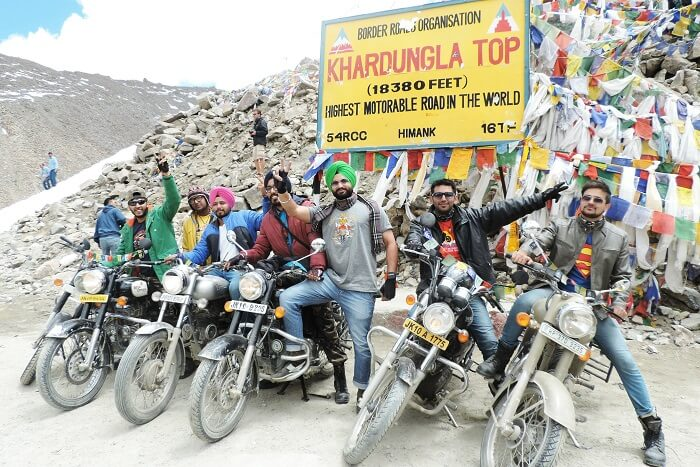 Conquering Khardungla Top with friends