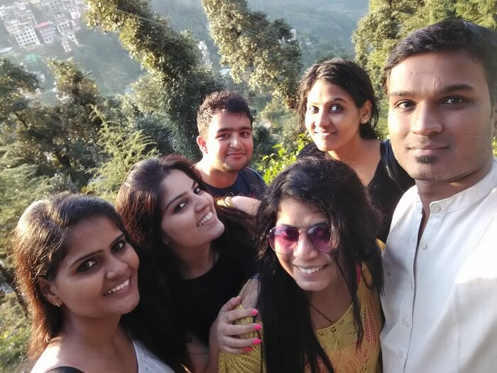 Shivani in a group selfie with her friends