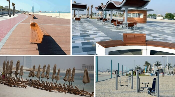 Jumirah beach conriche is one of the best places to visit in Dubai for free