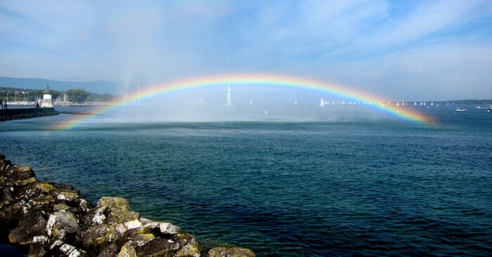 Rainbow at  Lake Geneva