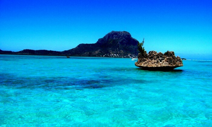 An amazing view of a beach in Mauritius