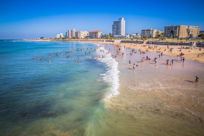 A beach at Nelson Mandela Bay, among the prosperous holiday destinations in South Africa