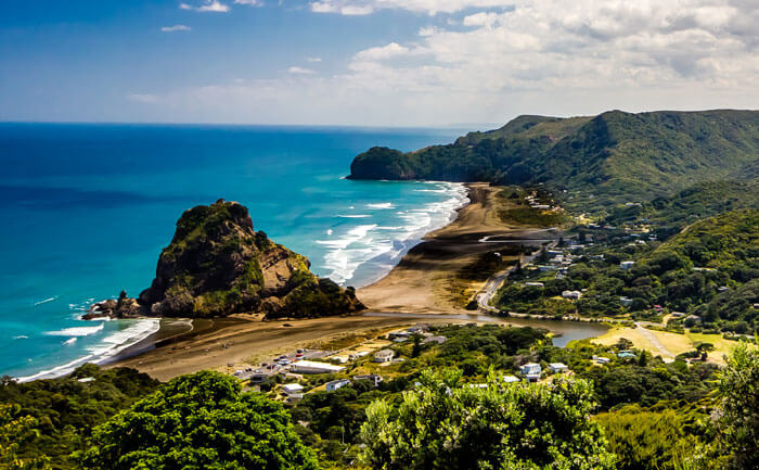 One of the best beaches in New Zealand- The black sand beach Piha