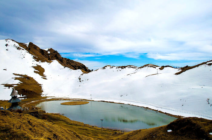 The serene Prashar Lake in Mandi