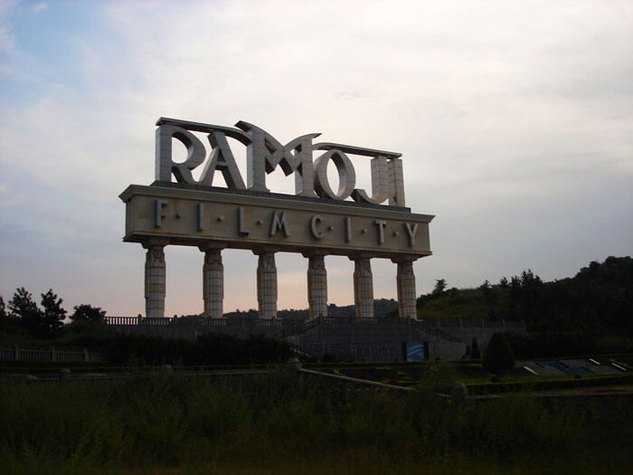 The intimidating entrance of Ramoji Film City