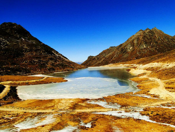 The vibrant Sela Lake in Arunachal Pradesh