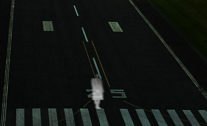 Ghost on the runway of Shamshabad Airport